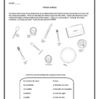 Spanish - Table Setting Worksheets