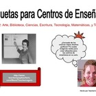 Spanish Teaching Stations Package: 7 Learning Center Signs