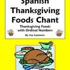 Spanish Thanksgiving Food and Ordinal Numbers Chant - Dia