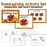 Spanish Thanksgiving Set: Guessing Book, Number Flash Card