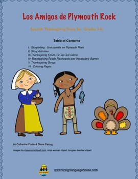 Spanish Thanksgiving Story & Unit: Grades 3-6