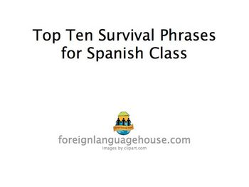Spanish Top Ten Classroom Survival Phrases PowerPoint