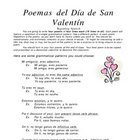 Spanish Valentine Poems - Guided writing - Beginning to Advanced