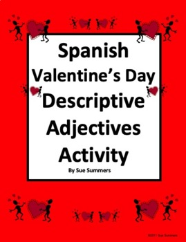 Spanish Valentine's Day Descriptive Adjectives Reference &