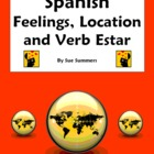 Spanish Verb Estar with Feelings & Location Fill in Blank