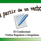Spanish Verb Form Practice with Sentences: Conditional, Re