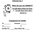 Spanish Verb Tener Notes