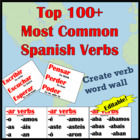 Spanish Verbs Word Wall Bulletin