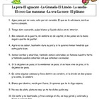 Spanish Vocabulary - las frutas riddles