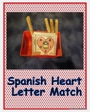 Spanish Vowel Heart Letter Match