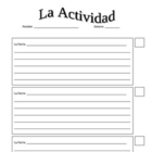Spanish Warm-Up Activity and Participation Log