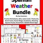 Spanish Weather Bundle - Worksheets, Vocabulary, Skit, Gam