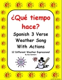 Spanish Weather Song With Actions - Que tiempo hace