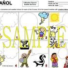 Spanish Weather Speech Bubble Creative Writing Activity