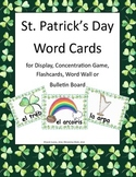 Spanish Word Cards for St. Patrick's Day: Centers, Concent