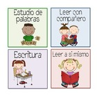 Spanish Work Station Labels