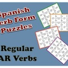 Spanish &quot;ar&quot; Verb Puzzle Activity