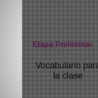 Spanish classroom vocabulary Powerpoint