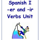 Spanish -er and -ir Verbs Inductive Lesson Plan