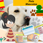Spanish pets, animales domesticos for beginners