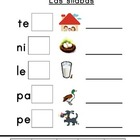 Spanish syllables cut and paste - ending syllables