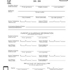 Spanish/English Student Information Form
