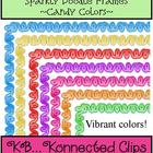 Sparkly Doodle Frames - Candy Colors - Commercial use