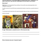 Speak- Cubism Worksheet
