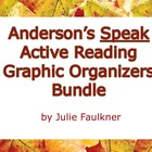 Speak Novel by Anderson Active Reading Graphic Organizers Bundle