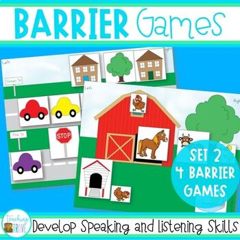 Speaking and Listening Games - Barrier Games set 2