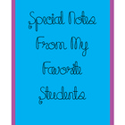 Special Notes Binder Cover