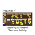 Special Quadrilateral-Classroom Activity-Interactive Bulli