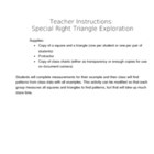 Special Right Triangle Exploration