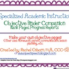 Specialized Academic Instruction Objective Companion