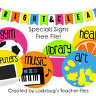 Specials Signs (Bright & Clear Decor)