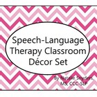 Speech Language Pathologist Classroom Decor Set - Warm Tones