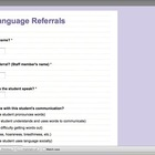 Speech-Language Referral Form (Google Doc)