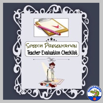Speech Presentation - Teacher Evaluation Sheet