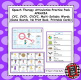Speech Therapy Articulation Practice Pack for Apraxia