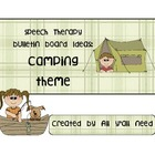 Speech Therapy Bulletin Board Set with Camping Theme