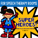 Speech Therapy Bulletin Board Set with Superhero Theme