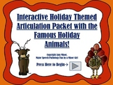 Speech Therapy: Interactive Holiday Articulation Activity