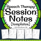 Speech Therapy Session Notes - quickly and easily keep par