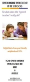 Speech Therapy: Speech Language Pathology in the Schools Brochure