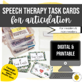 Speech Therapy Task Cards for Articulation