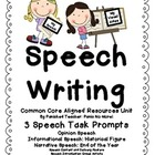 Speech Writing: Opinion, Informational, and Narrative