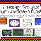 Speech and Language Haunted Halloween Bundle