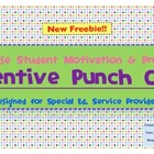 Speech and Special Education Punch Cards