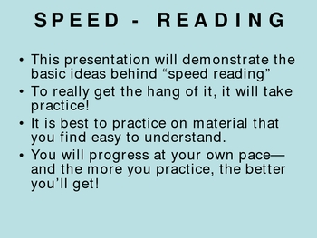 Speed Reading - Made Simple!