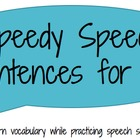 Speedy Speech Sentences for /s, z, r/